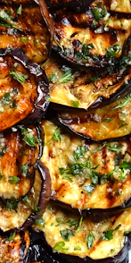 Grilled Eggplant with Garlic and Herbs