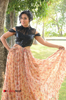 Actress Chetana Uttej Stills in Floral Long Skirt at Pichiga Nachav Movie Press Meet  0031.JPG
