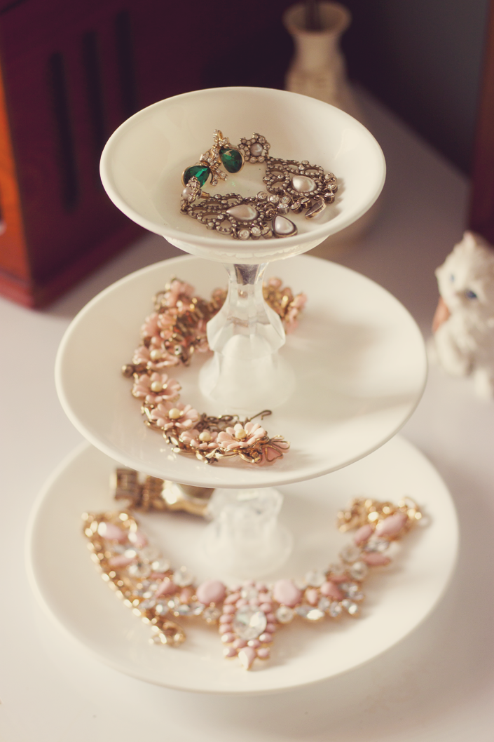 Plate + Candlestick Jewelry Holder - DIY | A Walk in the Park