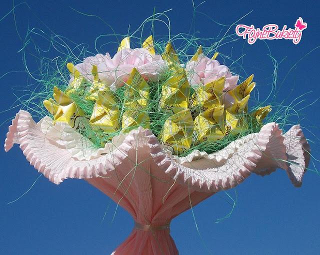 Bukiet z cukierków krówek dla dziewczyny