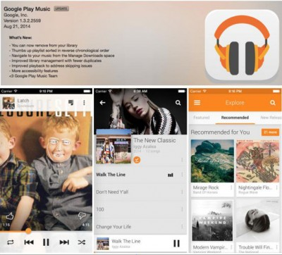 Update Google Play Music iPhone, Hapus Fitur Music On-The-Go