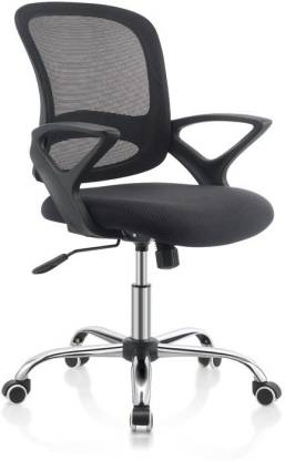 OBLIQUE H1 NA Office Arm Chair  (Black)