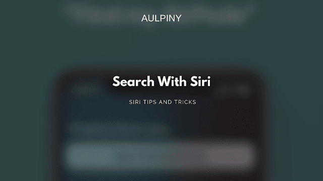 Search with siri