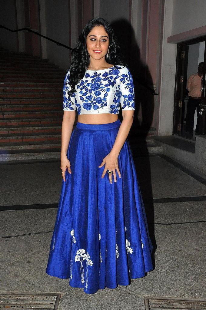 Actress Regina Cassandra Stills At Santosham Awards