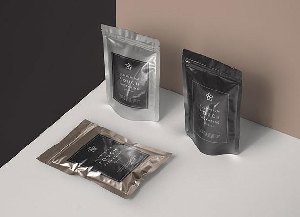 Gratis Mockup Packaging/Kemasan PSD 2018 - Aluminium Foil Pouch Packaging Mockup PSD