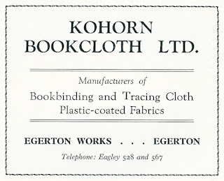 Kohorn Bookcloth Ltd, Egerton