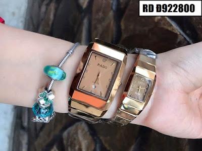 Đồng hồ cặp đôi Rado mặt vuông RD Đ922800