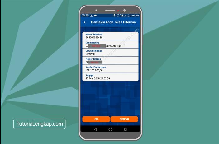 Tutorialengkap 7 Cara Membeli Pulsa Online Melalui BRI Mobile Banking di hape Android