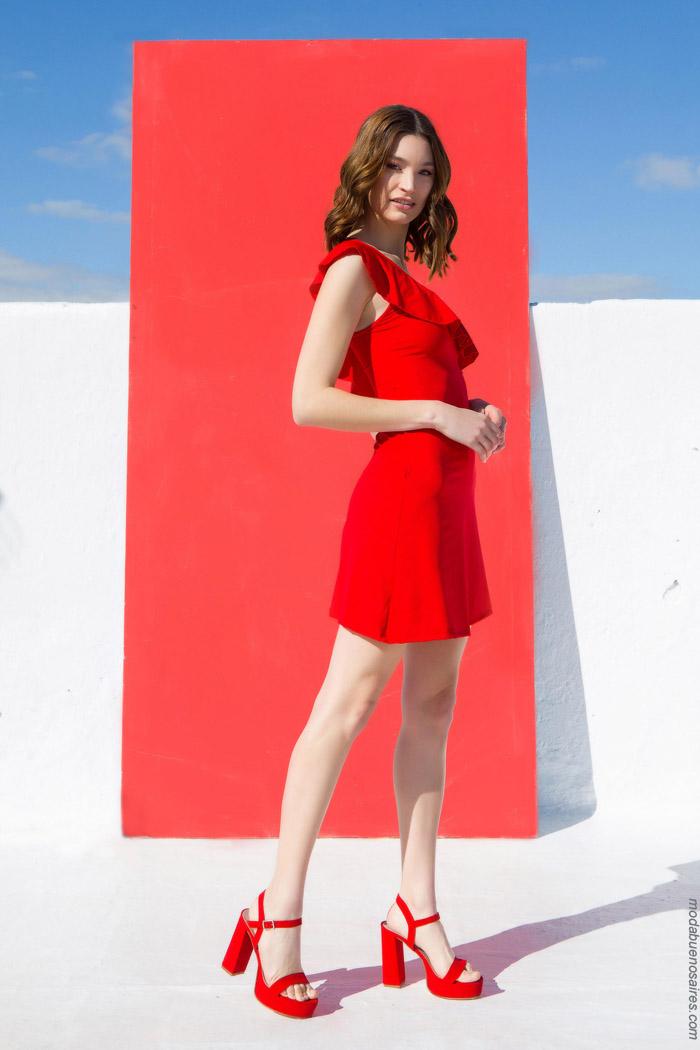 vestidos rojos de moda primavera verano 2020