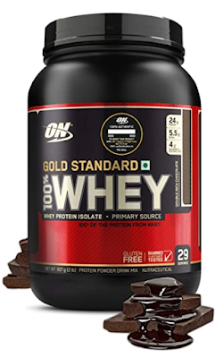 Optimum Nutrition (ON) Gold Standard 100% Whey Protein Powder - To Support Lean Muscle Mass and helps to Build Strong Muscles