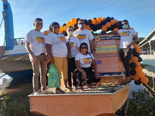 """Rede de Proteção leva a campanha """"Faça Bonito"""" até as comunidades de Óbidos"""