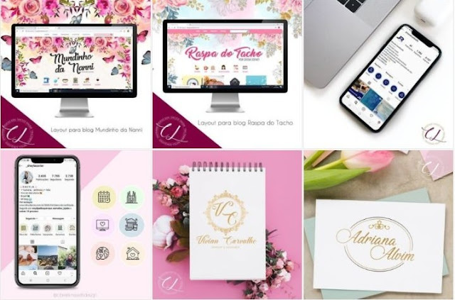 Hoje venho compartilhar o trabalho maravilhoso da Cibele Lima ela trabalha com design criação de sites, blog, identidade visual, artes gráficas e digital, gestão de midias sociais, produção de conteúdos, para nós que temos site, blogs, Instagram, Facebook, YouTube, entre outras redes sociais é importante conhecer um profissional que faça esse tipo de trabalho,