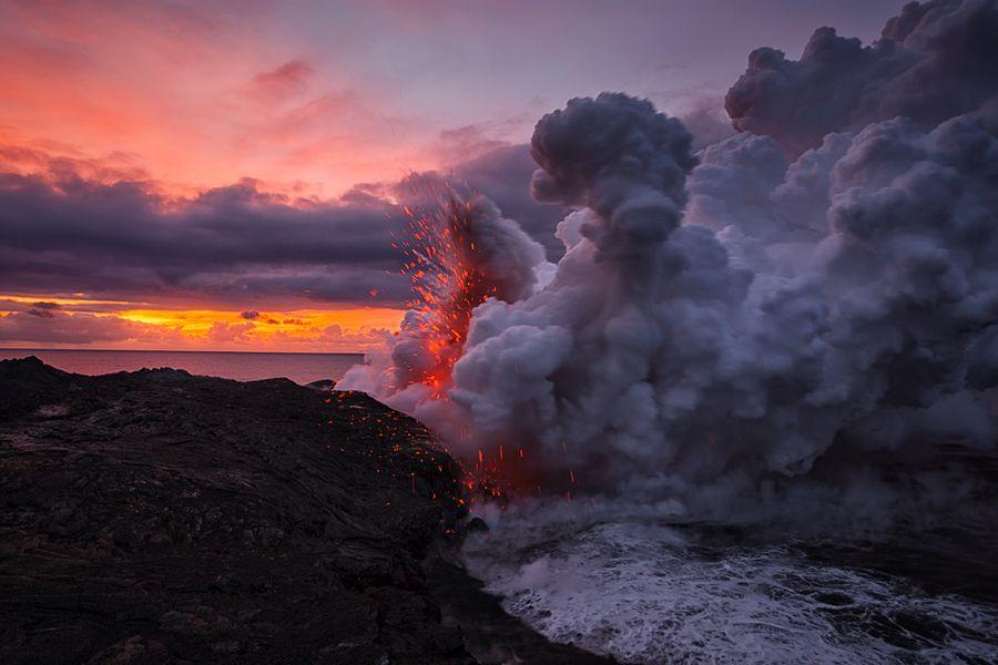 Lava Ocean Explosion