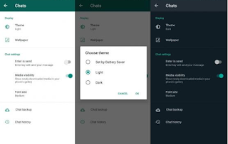 Cara Bikin Dark Mode Di WhatsApp