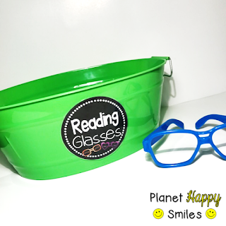 Planet Happy Smiles, Reading Glasses Basket