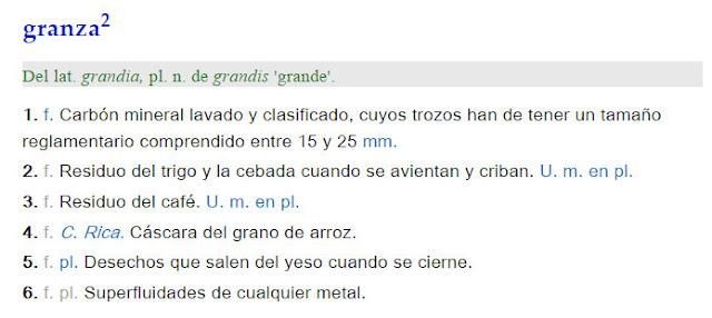 Granza - definición