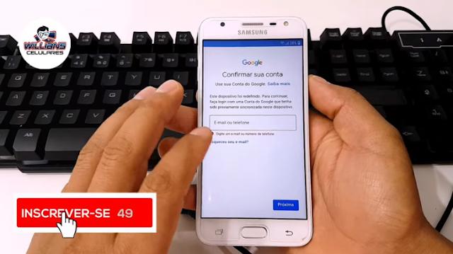Aprenda como Remover a Conta Google dos Aparelhos Samsung J5 Prime, J7 Prime, S7, S8, S9, J4+, J8+, Core, Plus. Sem usar Chip
