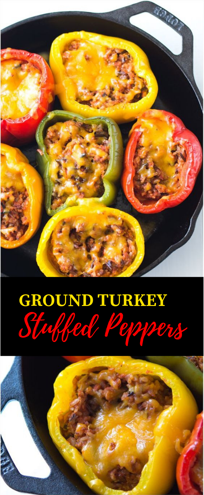 GROUND TURKEY STUFFED PEPPERS #Dinner #Recipe