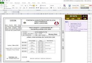 Cara Membuat Kartu Peserta Ujian dan Nomor Meja – Excel