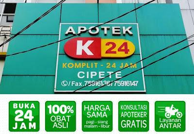 apotek 24 jam terdekat di Jakarta Selatan
