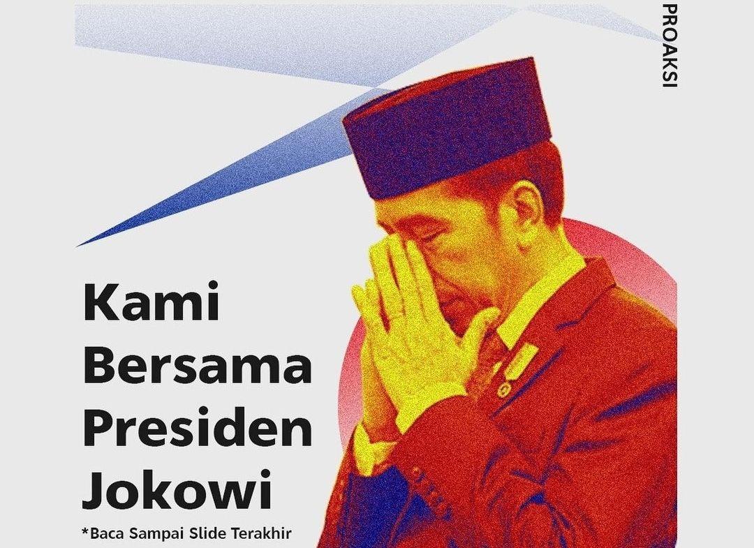 Jokowi Terus Diterpa Beragam Kritikan, Kali Ini Giliran BEM FISIP Unpad: Kami Bersama Presiden Jokowi, Tapi...