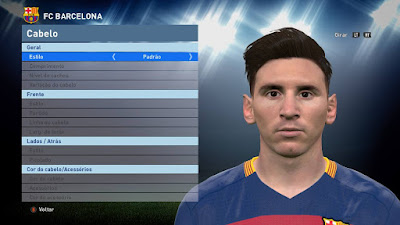 PES 2016 Lionel Messi Face by Lucas Facemaker