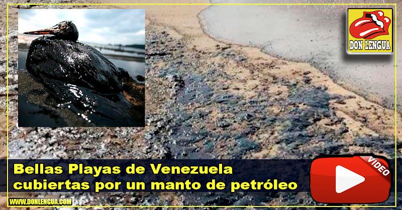 Bellas Playas de Venezuela cubiertas por un manto de petróleo