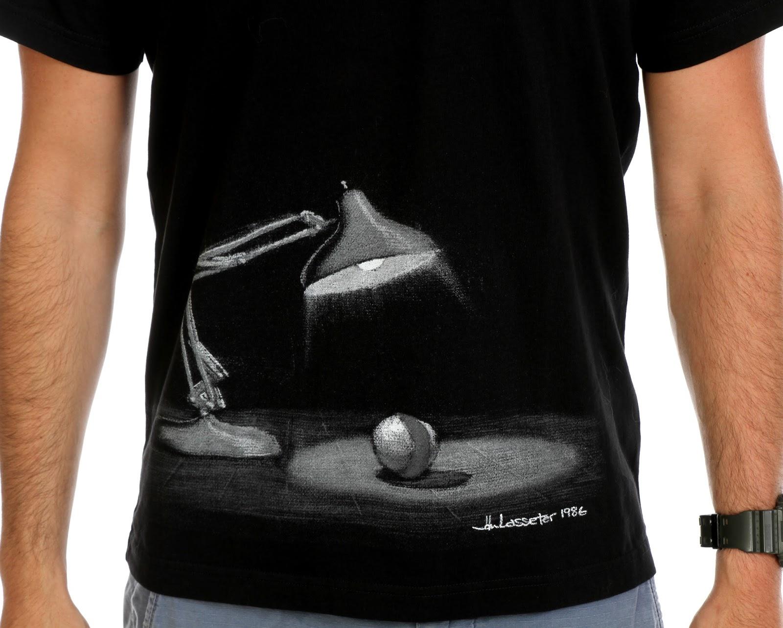 Dan the pixar fan disney pixar luxo jr concept art men 39 s for Pixar logo t shirt