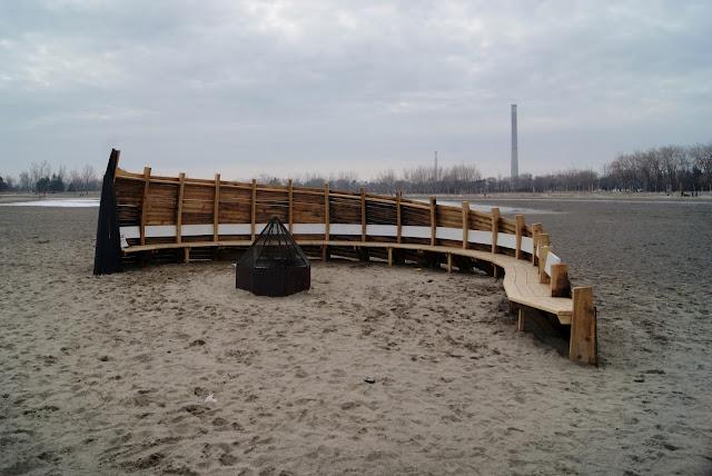 Winter Stations 2016 Design Competition, Toronto Beaches, Culture, Lifeguard Stations, architecture, Art, Artmatters, The Purple Scarf, Melanie.Ps, Ontario, Canada, Fire Place, Douglas Cardinal