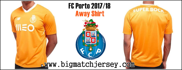 New Balance Porto 2017-18 Away Shirt