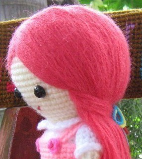 Crochet doll: The easy way to make hair for your doll - hair for ... | 319x286