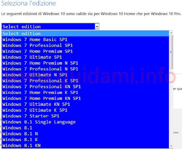 Trucco per scaricare la ISO di Windows da Microsoft Tech Bench