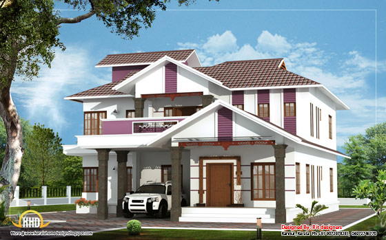 March 2012 kerala home design and floor plans for Duplex home designs in india