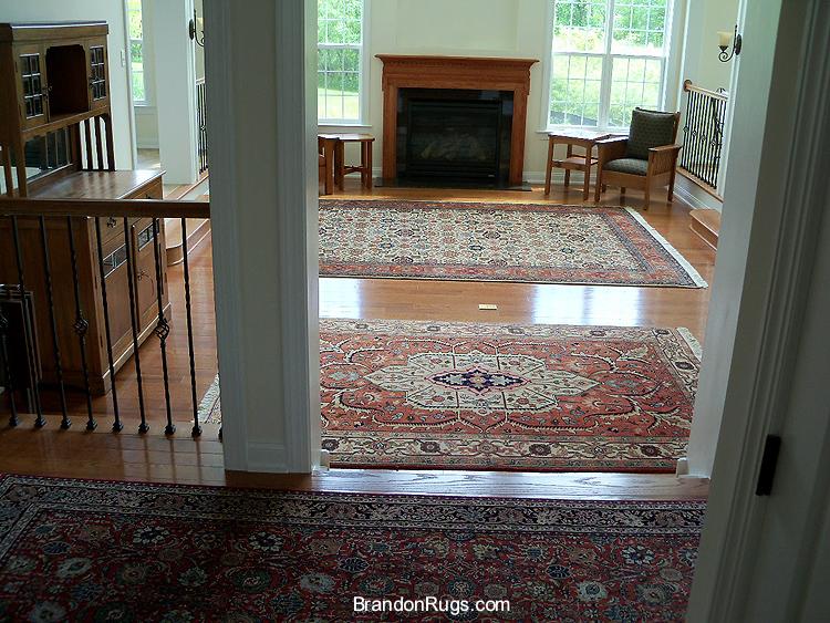Brandon oriental rugs bucks county rug store brandon for Two rugs in one room
