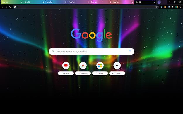 Aurora Google Theme