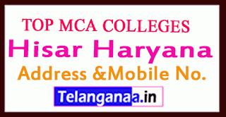 Top MCA Colleges in Hisar Haryana