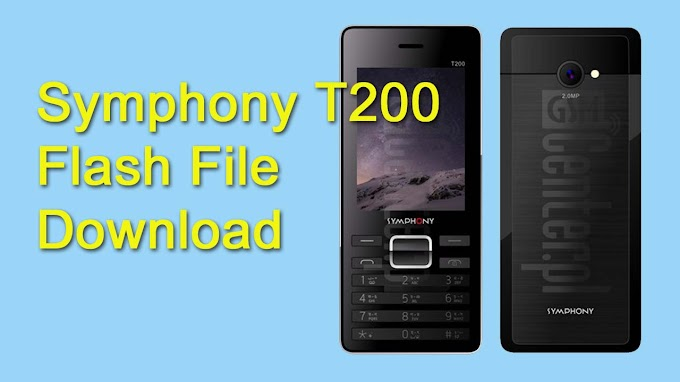 Symphony T200 Flash File MT6261 Download HW1 Without Password