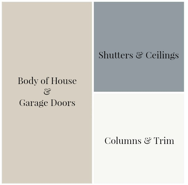 Paint Colors for our farmhouse