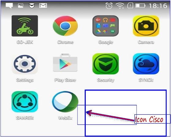 Cisco Webex App Icon Display