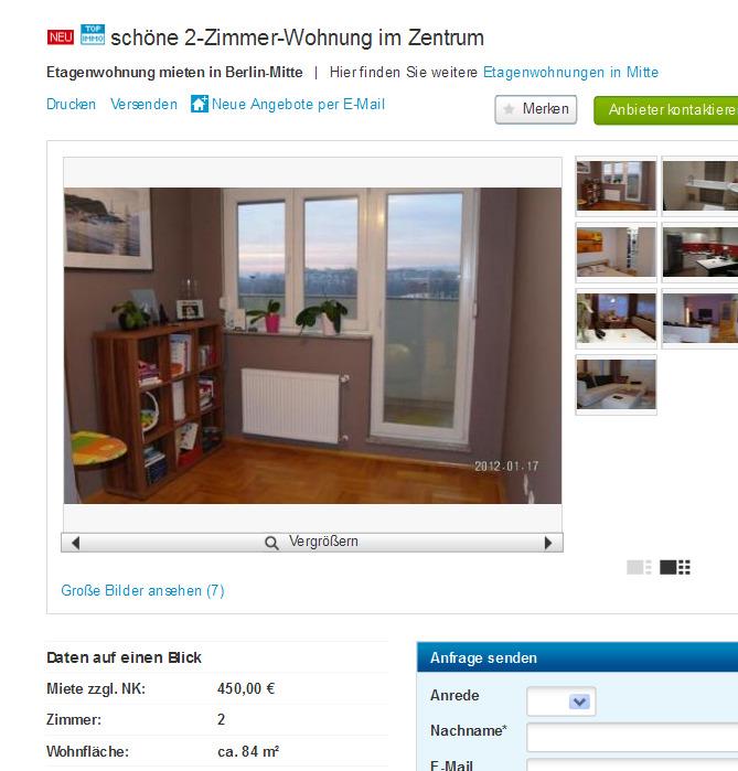 sch ne 2 zimmer wohnung im. Black Bedroom Furniture Sets. Home Design Ideas