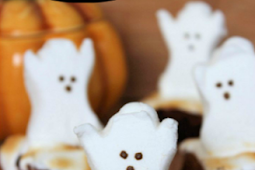 Easy Haunted Halloween Ghost Brownies