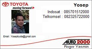 Informasi Harga Toyota Terbaru di Kota Bogor dan Sekitarnya