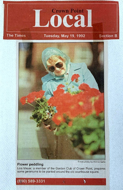 The history of Crown Point Garden Club of Indiana dating back 90 years of Indiana History.