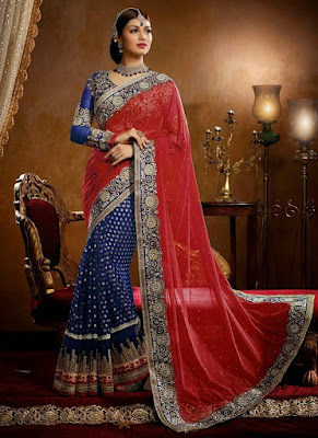 Stylish-indian-embroidered-bridal-saree-2017-for-brides-5