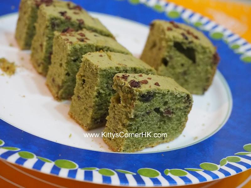 Green Tea Red Bean Cake DIY recipe 綠茶紅豆蛋糕 自家烘焙食譜