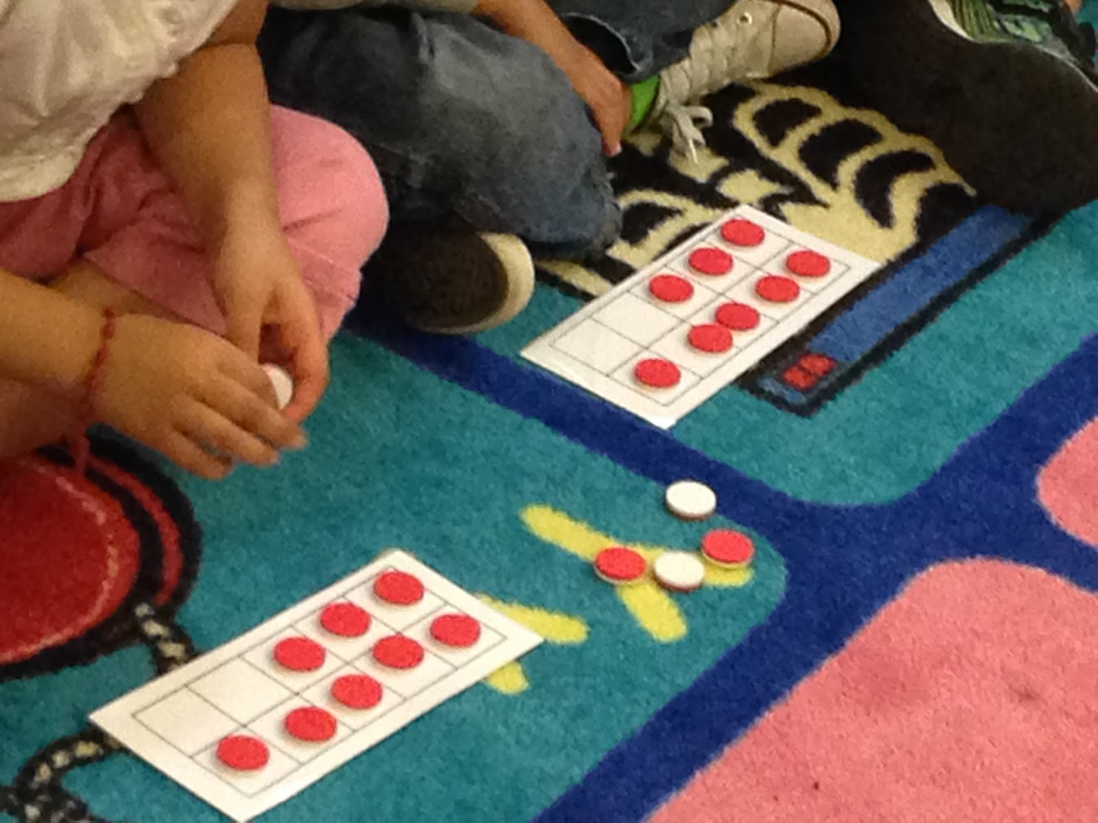 ten frames, kindergarten math