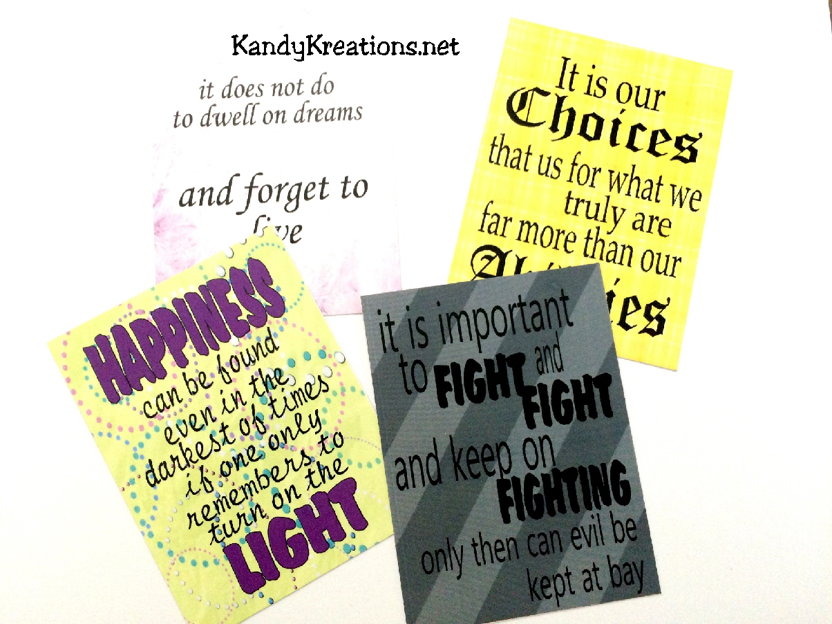 Your Kids Would Love To Go Back To School If They Were Going To Hogwarts.  These 12 Printable Quote Cards ...
