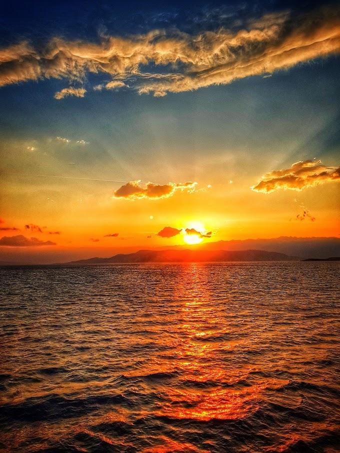 Stunning sunrise over the Adriatic Sea