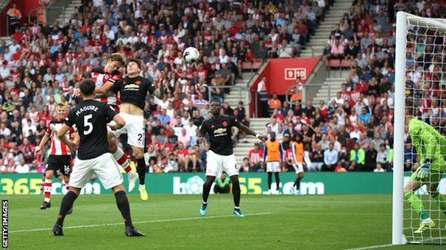 EPL: Vestergaard gives 10-man Southampton a point against Manchester United
