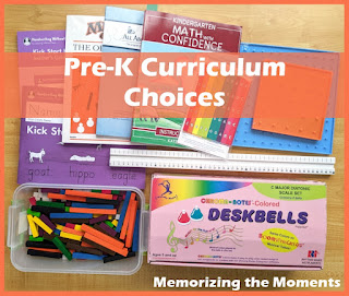 Not quite typical Pre-K Curriculum Choices for homeschool. Could apply to some homeschool preschool or kindergarten as well.